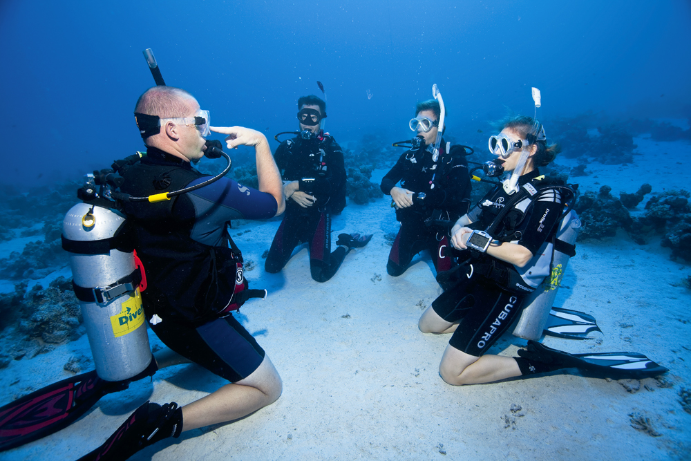 Certified Dive Lessons Training Instruction